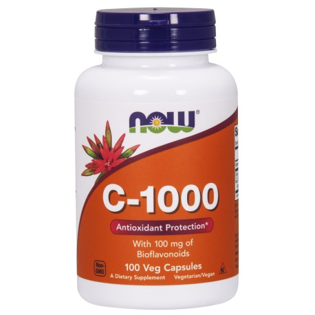 Witamina C 1000mg z bioflawonoidami 100kaps. NOW