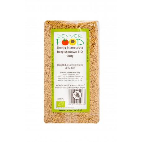 Siemię Lniane Złote Bezglutenowe BIO 900g Denver Foods