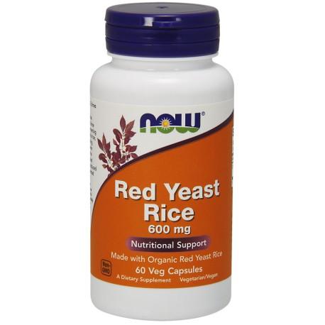 Wyciąg z Czerwonego Ryżu Red Yeast Extract 600mg 60kaps. NOW
