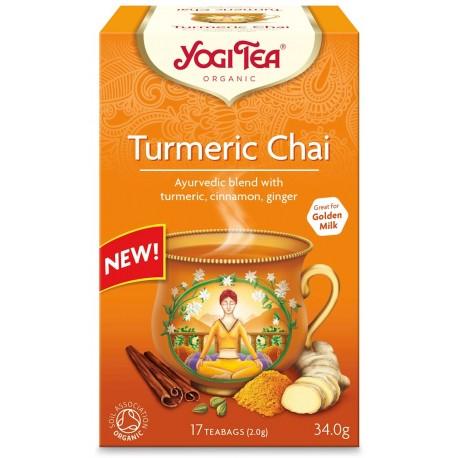 Herbata Złoty Chai z Kurkumą BIO (17 x 2 g) 34 g - YOGI TEA