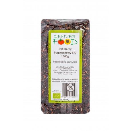 Ryż Czarny Bezglutenowy BIO 1kg Denver Foods
