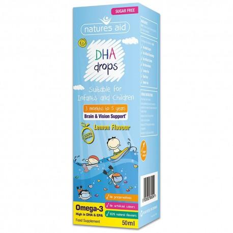 Mini Kropelki DHA Dla Dzieci-50ml Nature's Aid