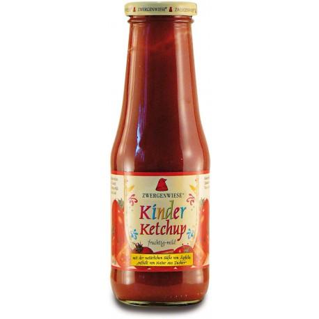 Bezglutenowy i Bez Cukru Ketchup dla Dzieci BIO 500ml ZWERGENWIESE