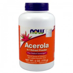 Acerola Proszek 170g NOW FOODS