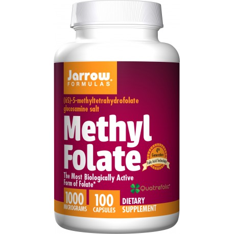 JARROW Methyl Folate 1000mcg Quatrefolic 100kaps.