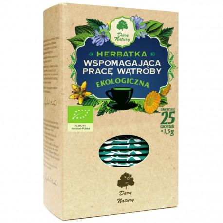 Herbatka Wspomagająca Pracę Wątroby EKO 25x1,5g ekspresowa - Dary Natury