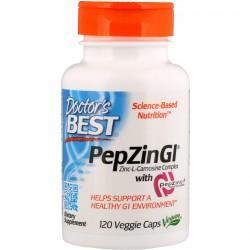 Zinc-L-Carnosine (cynk karnozyna) -PepZin- 120kaps. Doctor's Best