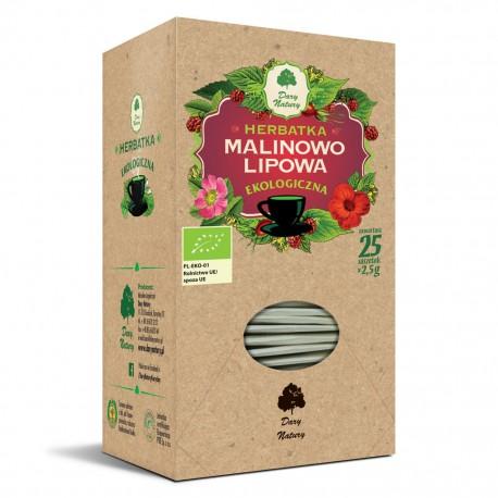 EKO Herbatka Malinowo- Lipowa 25x 2,5g sasz. Dary Natury