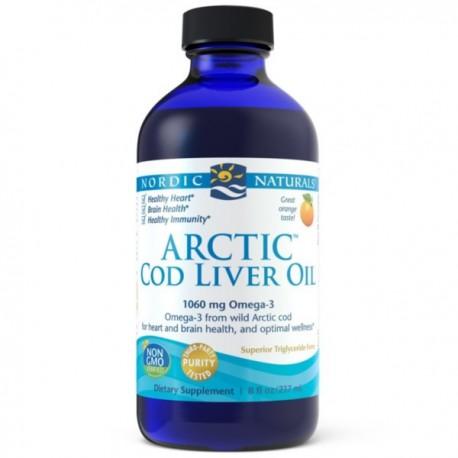NORDIC NATURALS Olej z Wątroby Dorsza Arktycznego 237ml (Arctic Cod Liver Oil)