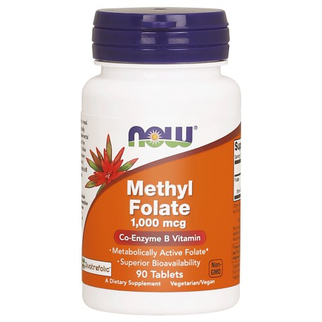 NOW FOODS Folian 1000mcg 90tabl. (Methyl Folate 1000 mcg)