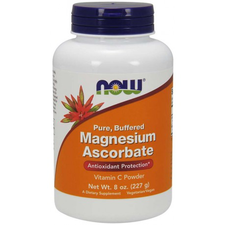 Askorbinian Magnezu Proszek 2257g NOW (Magnesium Ascorbate Powder)