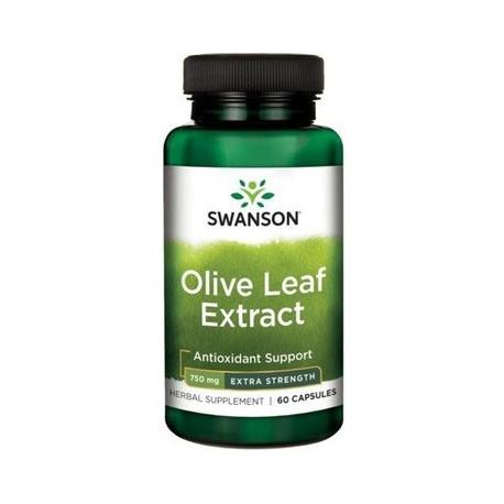 Swanson Olive Leaf Extract -Liść Oliwny 750Mg 60kaps.