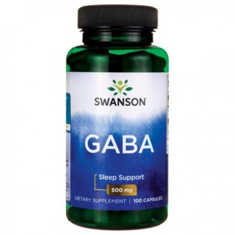 Swanson Gaba 500mg 100kaps. Naturalny Neuroprzekaźnik