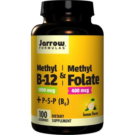 JARROW Methyl B-12 & Methyl Folate (Folian) smak cytr. 100tabl do ssania