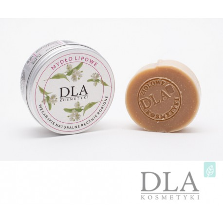 Mydło lipowe – wegańskie, naturalne i ręcznie robione 100g Dla kosmetyki