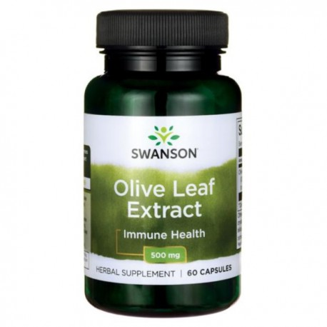 Swanson Olive Leaf- Liść Olwiny 500Mg 60kaps.