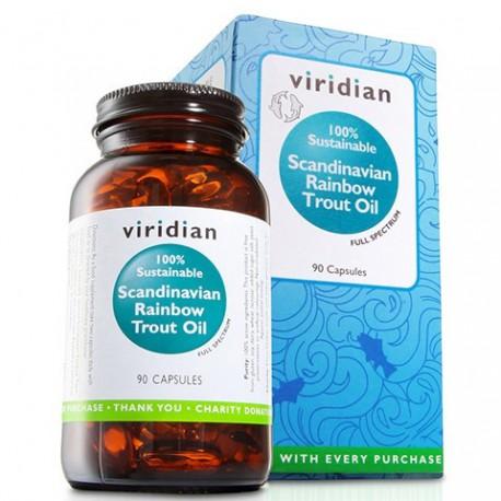 Viridian Olej ze Skandynawskiego Pstrąga Tęczowego w kapsułkach 90szt. Kwasy Omega