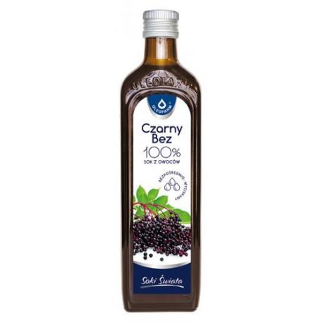 Czarny bez 100% sok z owoców czarnego bzu 490 ml Oleofarm
