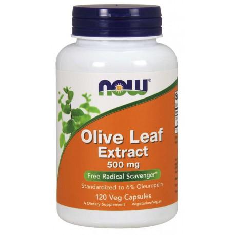 Ekstrakt z Liści Oliwki 500mg NOW Olive Leaf Extract 500 mg Veg Capsules