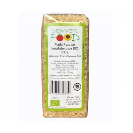 Płatki ryżowe bezglutenowe BIO 300g Denver Foods