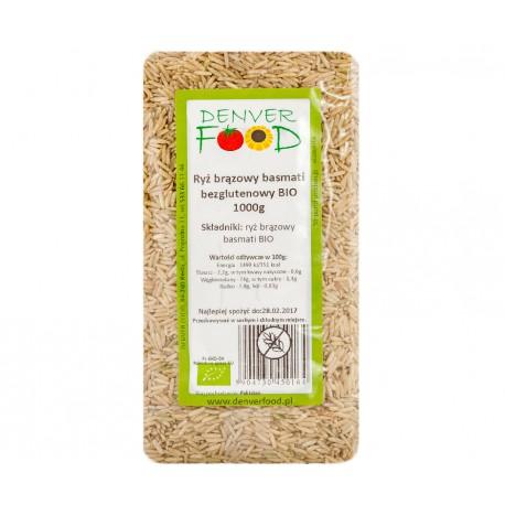 Ryż brązowy basmati bezglutenowy BIO 1000g Denver Foods