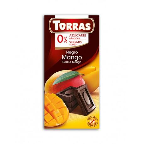 Czekolada gorzka z mango bez dodatku cukru Torras 75g