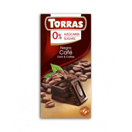 Czekolada gorzka z kawą bez cukru Torras 75g