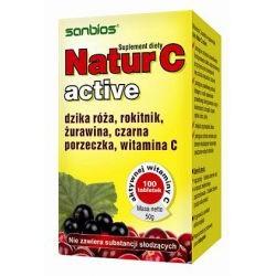 Natur C active 100tabl. Witamina C Sanbios