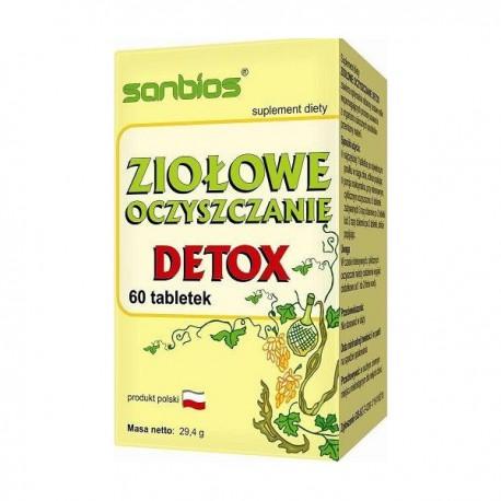 Sanbios ziołowe oczyszczenie detox 60 tabl.
