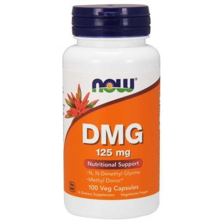 DMG 125mg (dimetyloglicyna)  100 wegetariańskich kapsułek NOW