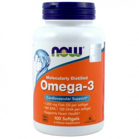 Now Foods Omega-3 1000Mg 100kaps.