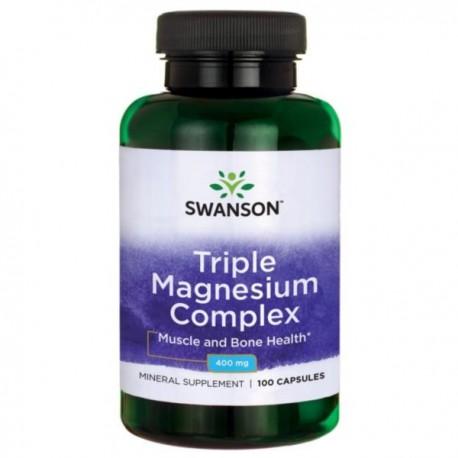 Swanson Triple Magnesium Complex 400Mg 100 kaps.