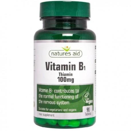 Natures Aid Witamina B1 (tiamina B-1) 100mg 90tabl.