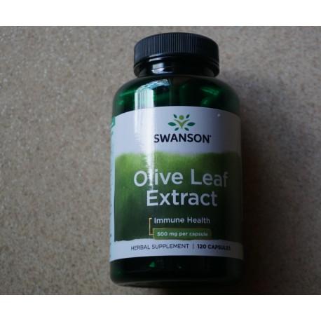 Olive Leaf Extract (ekstrakt z liścia oliwki) 500mg 120kaps. Swanson