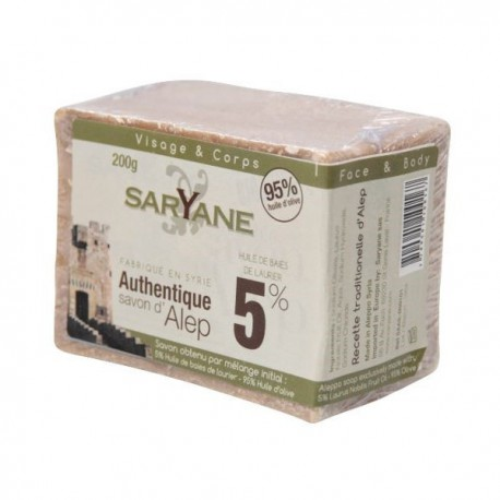 Saryane Mydło z Aleppo 5% 200g