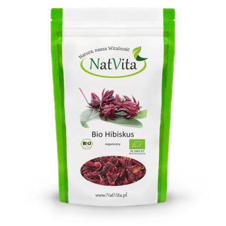 BIO HIBISKUS (Hibiscus sabdariffa) KWIAT POCIĘTY  500g NatVita