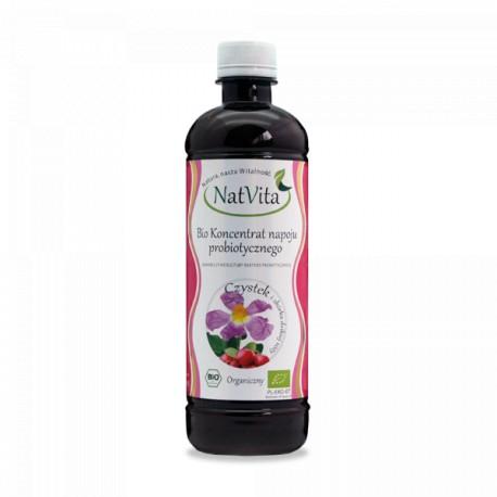 Koncentrat BIO napoju probiotycznego Czystek i Dzika Róża 500ml NatVita