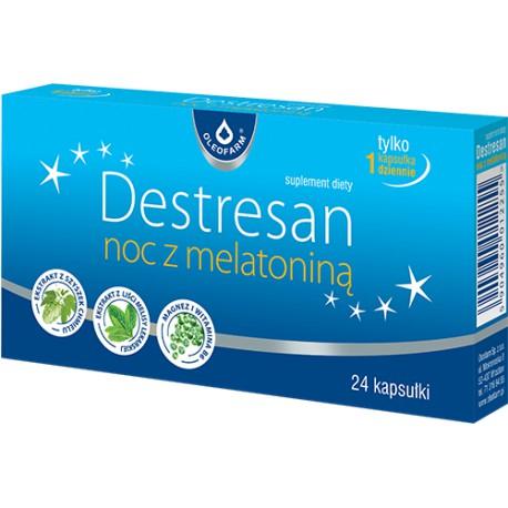 Destresan noc z melatoniną 24 kapsułki Oleofarm