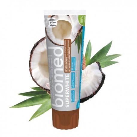 Biomed Pasta do Zębów 100g Superwhite Wybielająca (kokos, cynamon, tymianek)