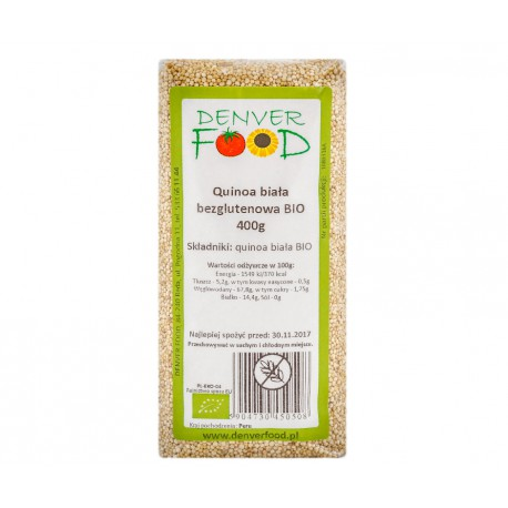 Quinoa biała (komosa ryżowa) bezglutenowa BIO 400g Denver Foods