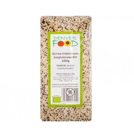 Quinoa trójkolorowa (komosa ryżowa) bezglutenowa BIO 1000g Denver Foods