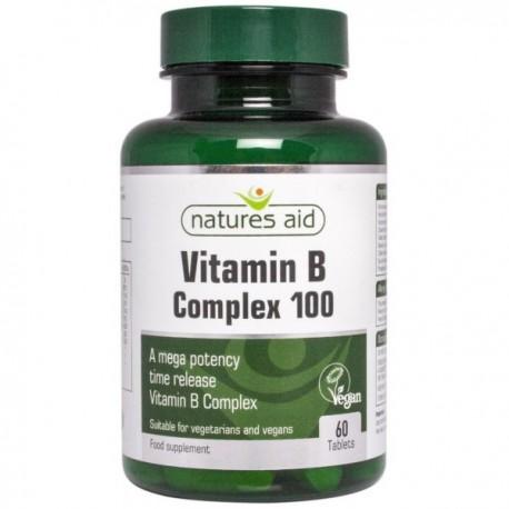Natures Aid Witamina B-100 Complex Mega Potency 60tabl.