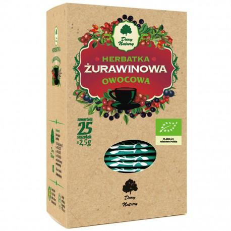 HERBATKA ŻURAWINOWA BIO (25 x 2,5 g) - DARY NATURY