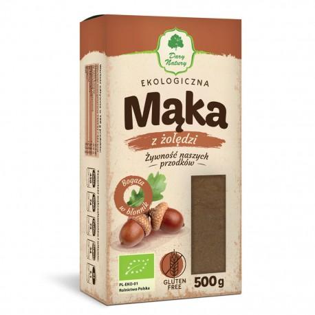BEZGLUTENOWA Mąka Żołędziowa EKO 500g Dary Natury