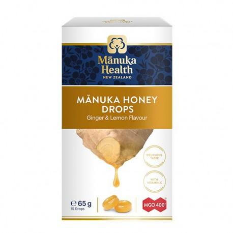 Cukierki z Miodem Manuka MGO™ 400+ i witaminą C Smak Imbirowo-cytrynowy 15szt.