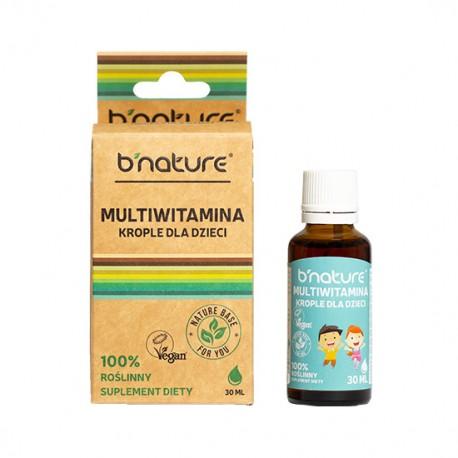 B'nature Multiwitamina w Kroplach dla Dzieci 30ml