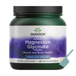 Swanson Albion Chelated Magnesium Glycinate- Diglicynian Magnezu w proszku 150g