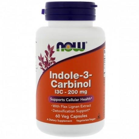 Indole-3-Carbinol (I3C) 200mg 60 wegetariańskich kapsułek NOW FOODS