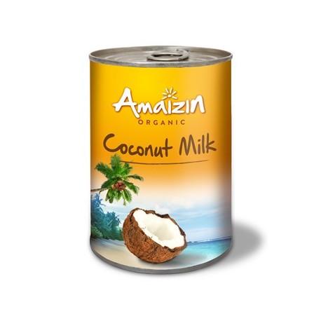COCONUT MILK - NAPÓJ KOKOSOWY BEZ GUMY GUAR (17 % TŁUSZCZU) BIO 400 ml (PUSZKA) - AMAIZIN
