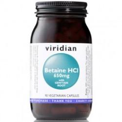 Betaina HCL z Goryczką 90kaps. Viridian